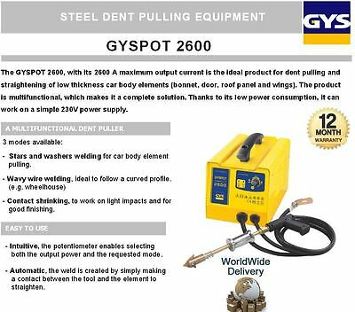 Gys Gyspot Steel Dent Automatic Puller Straightening Bonnets Roofs Doors Wings