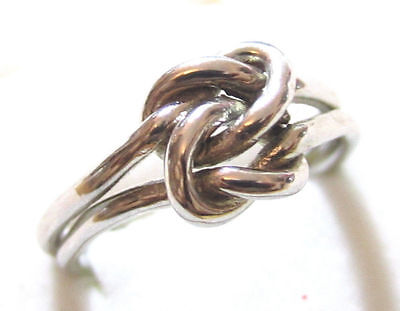 Beautiful Vintage Double Love Knot Infinity Ring*white Gold Plated Esposito*a69
