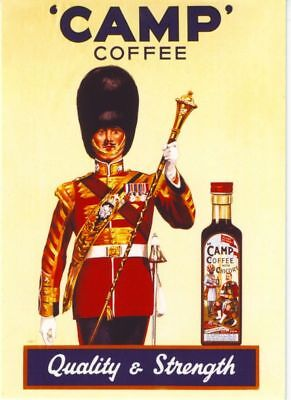 1930's Camp Coffee Advertising Poster A3 Reprint