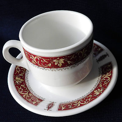 Coffee Cups and Saucers duos Steelite red Marina Royal Doulton replacement china