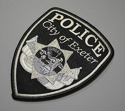 New 2014 Exeter California Police Patch ++ Mint Tulare County CA