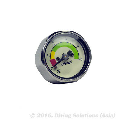Mini Scuba Diving Dive PSI Thimble Pressure Gauge Pony Tank Button