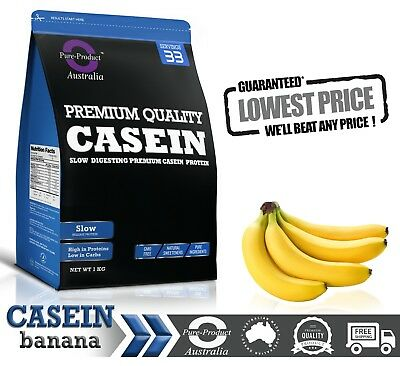 1Kg Banana Micellar Casein Protein Powder - Night Release -  1 X 1Kg