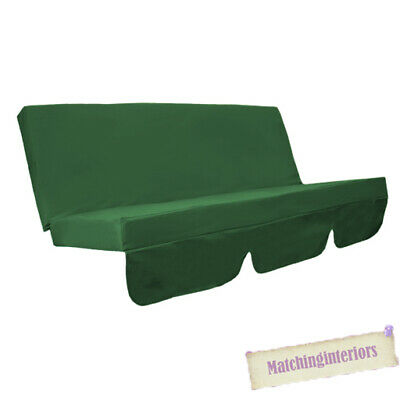 Green Water Resistant Bench Cushion for Swing Hammock Garden Seat Pad