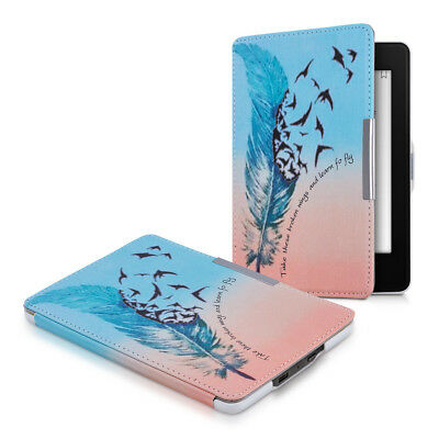 kwmobile TASCHE FÜR AMAZON KINDLE PAPERWHITE LEARN TO FLY HÜLLE KUNSTLEDER CASE