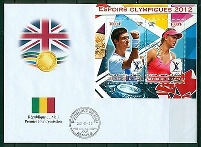 Mali First day cover FDC Olympic games London 2012 Tennis Djokovich and Azarenka