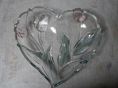Mikasa Crystal Heart Serving Tray Original Walther-Glas Co West Germany