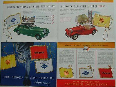 Nuffield Range Morris Minor II MG TF Riley RM Original Export Sales Brochure