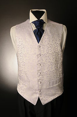 W-583 Mens&boys Lilac Floral Swirl Wedding Waistcoat Formal/dress/wedding/sui