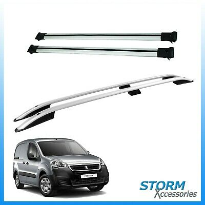 Peugeot Partner 2008 onwards STX Aluminium Roof Bars + Cross Rails Set - SWB