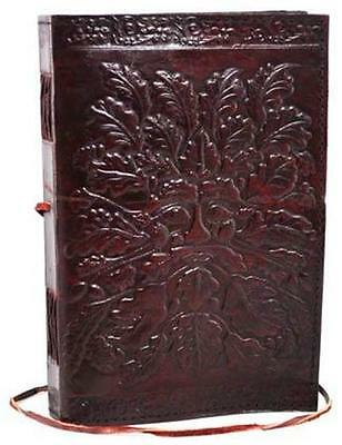 "8""x6"" Leather Bound GREEN MAN Book of Shadows!"