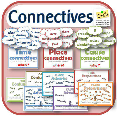 KS2 Y3 Sentence Grammar CONNECTIVES CONJUNCTIONS teaching resources SPaG CD