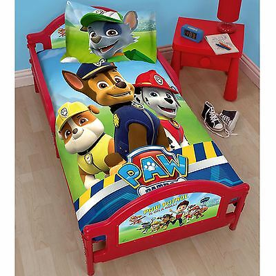 Paw Patrol Rescue Junior Toddler Bed With Or Without Mattress Free P+P New