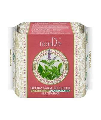 TianDe Nephrite Freshness Herb Daily Panty Liners with Anions, 20pcs.