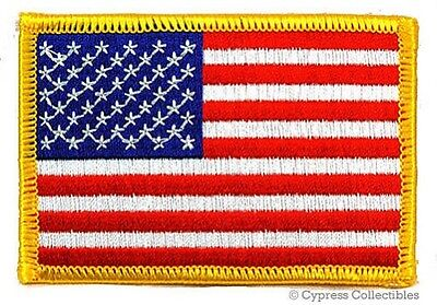 "American Flag Embroidered Patch 3 1/2""x2 1/2"""
