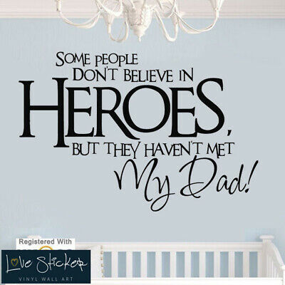 Wall Stickers Super Hero Dad Boys Bedroom Cool Art Decals Vinyl Home Room Decor