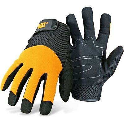 Caterpillar Cat Padded Palm Mesh Back Work Gloves X-Large
