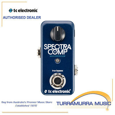 TC Electronic Spectra Comp Mini Bass Guitar Compressor Effects Pedal Spectracomp