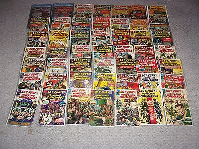 Complete Sgt Fury #1 thru #100 collection!! I will include 60+ doubles for free
