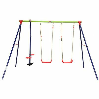 Lifespan Kids Hurley 3 Station Metal Swing Set