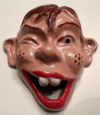 Cast Iron Bottle Opener Howdy Doody Smiling Buck Teeth Face Vintage Replica