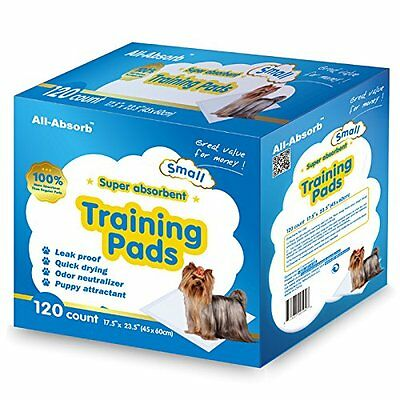 All-Absorb 120 Count Training Pad,17.5 by 23.5-Inc,White/Blue Quick drying NEW
