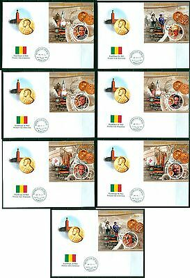 Mali set 13 first day covers Nobel Prize Winners 2011 Science Medicine Peace etc
