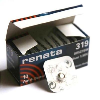 Renata 319 Swiss Made Lithium Coin Cell Battery SR527SW - Pack of 10