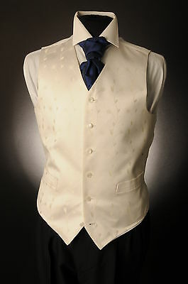 W-598 Ivory And Gold Leaf Floral Wedding Waistcoat Formal/dress/wedding/sui