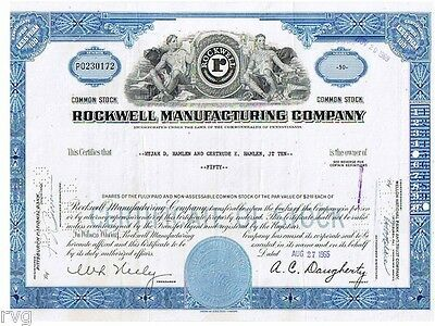 23397 HWP /  ROCKWELL MANUFACTURING COMPANY, 40 Shares