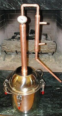 Copper Alcohol Moonshine Ethanol Still E-85 Reflux 5 Gallon Stainless Boiler
