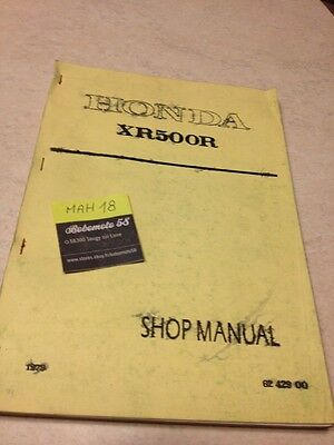 Honda XR500R XR 500 R manuel atelier workshop service manual