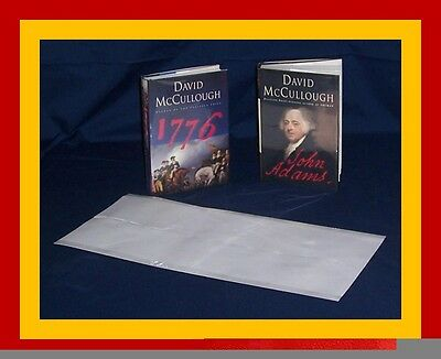 """5 - 9"""" x 21"""" Brodart ARCHIVAL Fold-on Book Jacket Covers - Super Clear Mylar"""