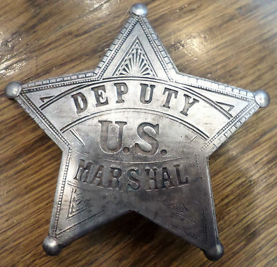 Deputy Us Marshal Badge Of The Old West With Star Western Inspred Pin Back Bw-13