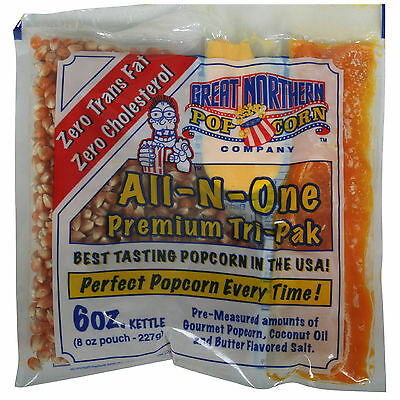 Great Northern Popcorn Premium 6 Ounce Popcorn Portion Packs, Case of 24