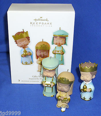 Hallmark Ornaments Gifts We Bring 2010 Magi Wise Men Inspired by Mary's Angels