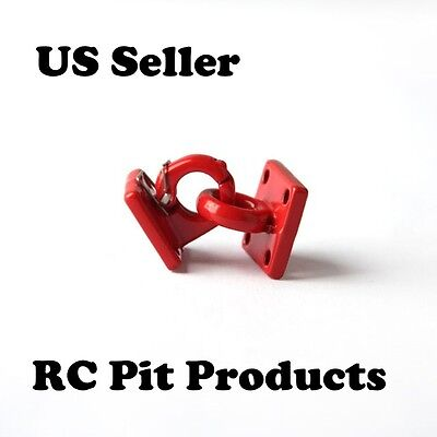"""1/10 RC Rock Crawler/Truck Scale Accessory Pintle Hitch/Hook  Red """"US SELLER"""""""