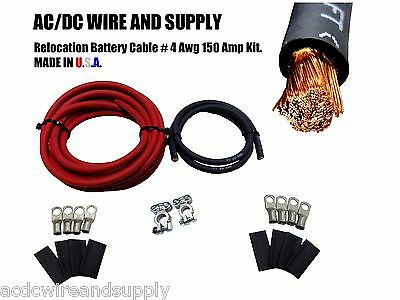 Battery Relocation Kit Top Post 450 AMPS USA MADE SAE GREEN 2//0 GAUGE HD
