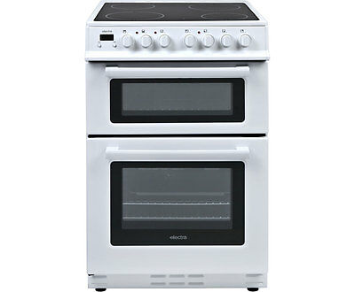 Electra TCR60W Electric Cooker with Ceramic Hob Free Standing 60cm White New