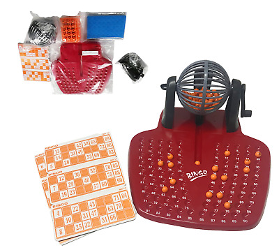 Large Family Bingo Game Tumbler Balls & Cards & Lottery Numbers Picker Toy 281
