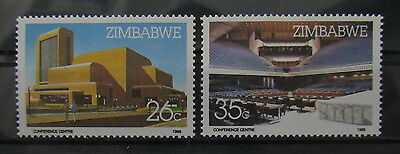 A2132 Zimbabwe 1986 Harare Conference Center Mnh**