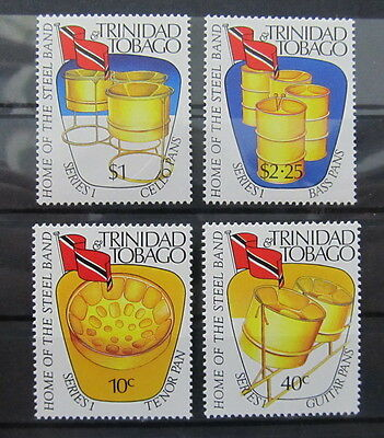 A2143 Trinidad & Tobago 1989 Drum Instruments Played In A Steel Band Music Mnh**