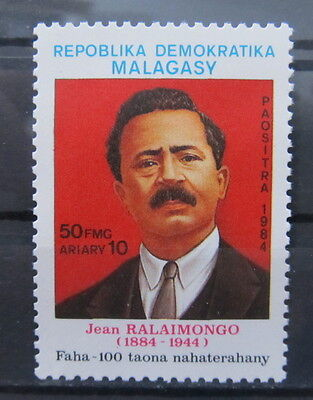 A2172 Malagasy Republic 1984 Famous People Jean Ralaimongo Mnh**
