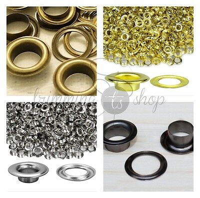 12mm Bronzes Gun Metal Eyelets with Washers for Banners Leather Craft Vinyl x100