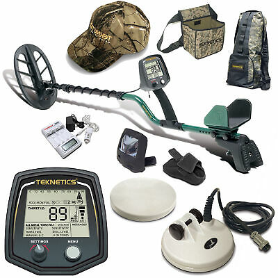 """Teknetics T2 Classic Metal Detector with 11"""" DD Search Coil and Accessory Bundle"""