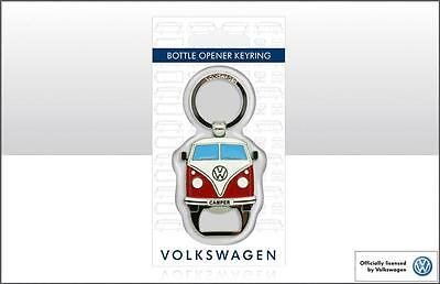 VW CAMPERVAN METAL BOTTLE OPENER in Red - VW Licensed Product