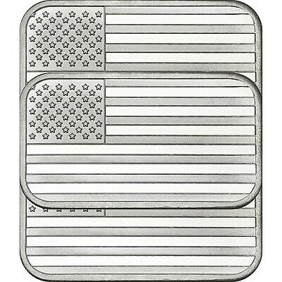 American Flag Bar by Silvertowne 1oz .999 Silver Bar (3pc)