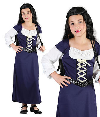 Childrens Kids Maid Marion Fancy Dress Costume Girls Childs Outfit Book Week M