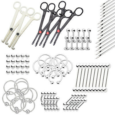 Wholesale Body Piercing Kit All included 100pc. Verity of sizes