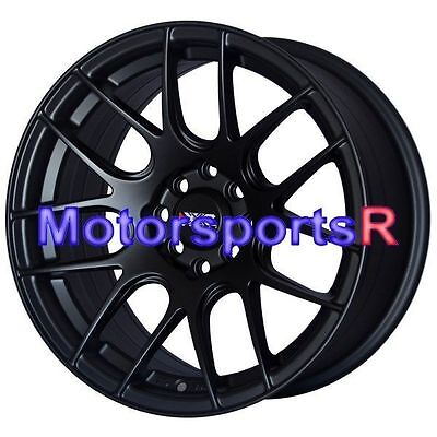 XXR 530 15x8 +20 Flat Black Wheels Rims Concave 4x100 Stance 02 Honda Civic SI